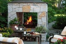 Outdoor fireplace / by Kathy Cassady Olson