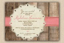 Rustic Baby Shower Invitations / The best in rustic baby shower invitations