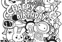 Birthday hand draw