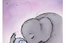 Art d'éléphant à la crèche
