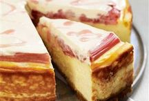 baked rhubarb & orange cheesecake