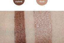 Swatches maquillage certifié bio Avril