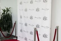 Step & Repeat Design Ideas / Get that red carpet entrance with a custom Step & Repeat backdrop. Here are some design ideas to get your creativity flowing. Order yours online at www.backdropscanada.ca We ship direct from Mississauga, Ontario, Canada.