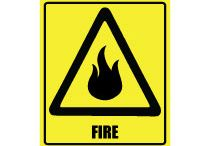 INDUSTRIAL SIGNS / Many places should be there take care of fire like factories, chemical furnaces such places will always be marked with fire sign boards.