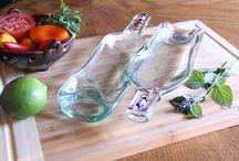 Dishes / Upcycled bottles