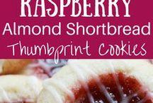 Raspberry shortbread