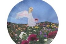 Birthday Angel Plates