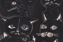 Heidi Bjork Animals Collection / Watercolor art in black & white / by Heidi Bjork