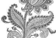 Орнаменты / Орнаменты для вышевки, цветы и все такое ...
