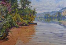 Peintures de la Seine -  Artiste Michèle Ratel / peintures de la Seine - Peintures de Michèle Ratel