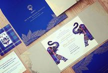 Indian wedding them website & card Design