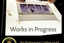Works in progress by Professional Crafters Guild Members / Our Guild Members are a talented lot! Take a look at some of their work in progress.  Images and videos from Ruby and Sapphire Guild Members are welcome.