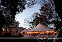 Lawn Weddings / A tent on the lawn will accommodate up to 250 guests