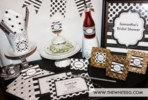 Black and White Party Ideas - Kate Spade Inspired