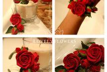 Розы из полим.глины