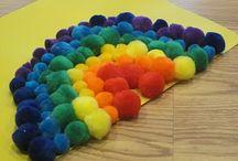 Material -  Cotton ball / Pom Pom Art and Craft / Pins about Cotton ball / Pom Pom Crafts / by Artsy Craftsy Mom