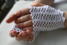 crochet victorian mittens