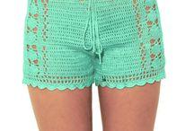 Shorts de crochê