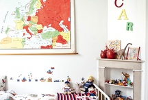 Interiors with maps/school cards / Some inspiration for the vintage maps and school cards we sell at www.19toen.nl