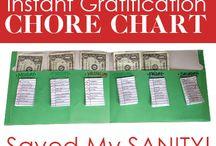 chore charts / by Holly Thrush
