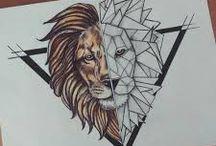 realistic tattoo black and white