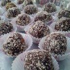 çikolatalı küçük toplar