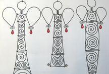 drôtované dekoracie