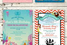 Mermaid Pirate Parties and Invitations / This board is a showcase of all of my Mermaid and Pirate party invitations, mermaid pirate party designs, and mermaid and pirate themes party ideas. Enjoy!