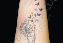 tatuaggio dandelion