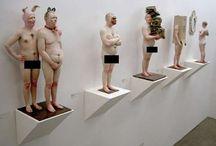 面白い彫刻