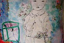 JU BARROS ART BRAZIL - CHILD LOOK / OLHAR DE CRIANÇA / ARTE CONTEMPORANEA, ARTWORK , PINTURAS, PAINTINGS, CRIANÇA, CHILDREN, DRAWINGS, DESENHOS