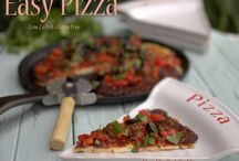 Low carb pizza and pizza crusts