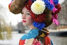 Fruit and flower head dress