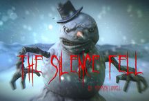 The Silence Fell / Relating to my short horror story The Silence Fell.  A Christmas tale with a difference.  This Twilight Zone-esque tale was inspired by the the Weeping Angels in Doctor Who except it is Snowmen that can't be trusted!  Available in electronic formats on Amazon Kindle, Kobo and Apple iBooks/iTunes  For more information see  http://stephenliddell.co.uk/my-books-3/the-silence-fell/