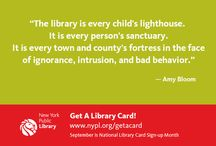 Loving Libraries / I love libraries. They are a wonderful resource for families. Reading books makes anything seem possible.