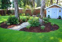Landscaping in the middle of the yard designs
