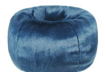 Blue Faux Fur / Faux Fur Throws, Cushions and other Decor in Blue