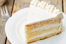 torta soffice al cioccolato bianco