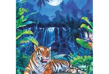 Tigers puzzles / Amazing tigers in the art of puzzles