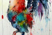 Schilderijen watercolor