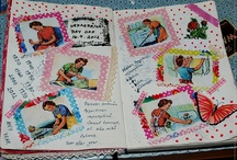Art journaling / My own art journal pages