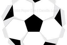 bola papel futebol 3d