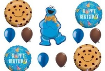Cookie Monster - for friend's party. / I told her I could find Cookie Monster party stuff, because I love being Auntie Michelle!