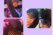 Naturale styles / Hair styles for the natural look ranging from different braids to Afro