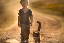 kid and pet