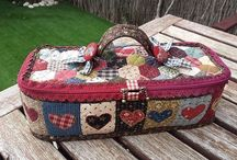 patchwork work basket