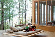 Gårdsrom og terrassar
