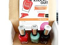 The Sally Hansen Total Knock Out VoxBox / Here is my Knock out beauty board featuring @Sally Hansen and @Influenster