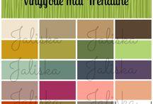 Vinylfolie mat Trendline / Deze serie matte vinylfolie is met zijn trendy / hippe kleuren afgestemd op de interieurkleuren van dit moment. Geschikt voor het snijden met de Silhouette Cameo, Portrait, Brother ScanNcut, Cricut, etc. http://www.jaliska.nl/index.php?item=vinylfolie-mat-trend-line&action=page&group_id=57&lang=nl