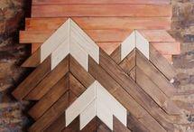 Ściana drewno